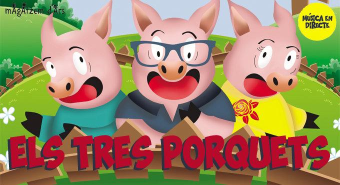 Els Tres Porquets en Barcelona (Teatre Aquitània)