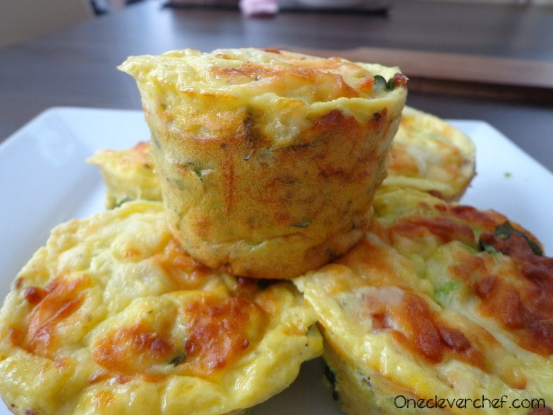 Superfood Breakfast Egg Muffins With Avocado And Spinach