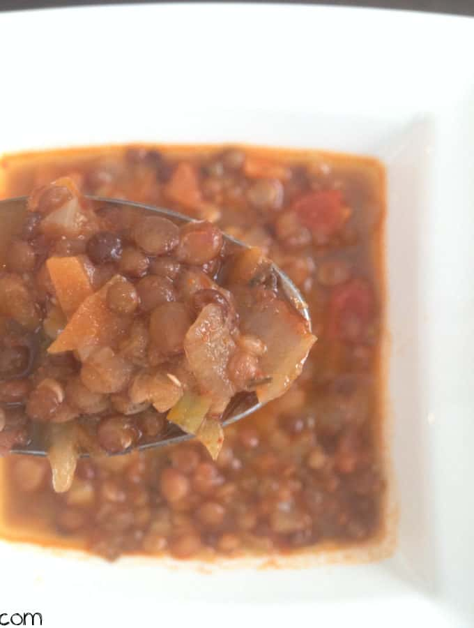 Three Lentil Chili Lime Soup With Fresh Tomatoes