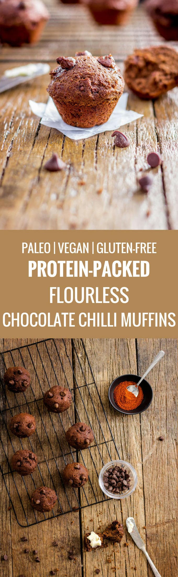Chocolate Chilli Muffins. An INTENSE double chocolate taste with a little kick. Paleo, vegan, gluten-free!