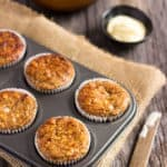 I love these super moist and tender apple protein muffins. These yummy little ones are protein-packed, 100% healthy, naturally sweetened with maple syrup (could be replaced with honey) and extra easy to make. They are the perfect on-the-go clean eating breakfast or post-workout lunch. These are also gluten-free, dairy-free and can be made vegan by replacing the eggs with flax eggs or applesauce.