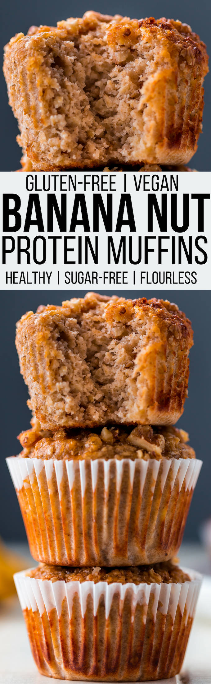 Healthy Banana Oat Protein Muffins Gf Df And Vegan One Clever Chef