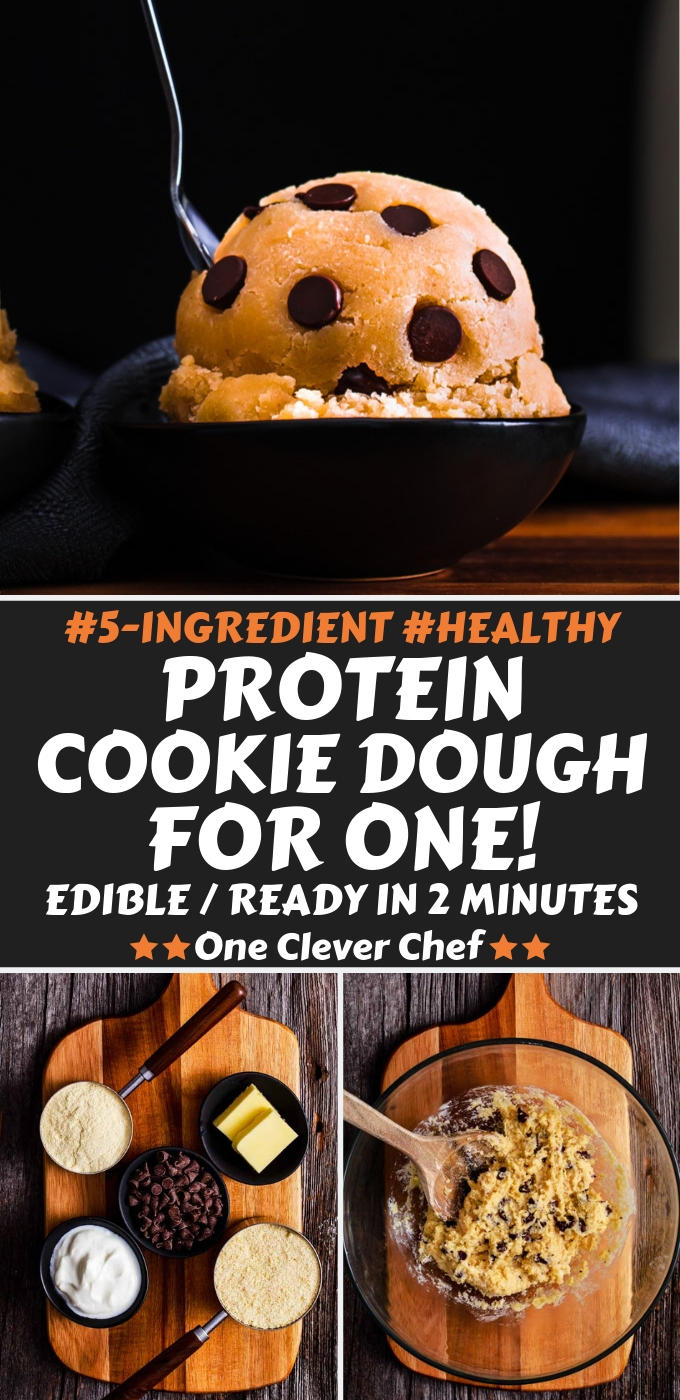 Protein cookie dough Pin Image