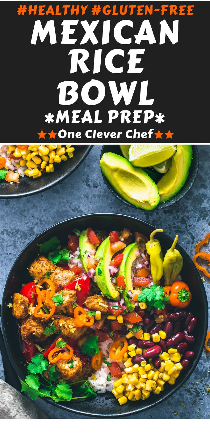 Mexican Rice Bowl pin image