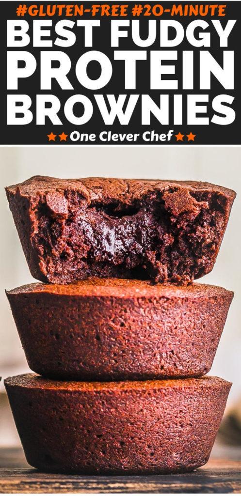 Protein Powder Brownies Pinterest Image