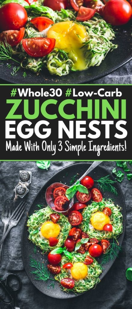 Zucchini egg nests pin image