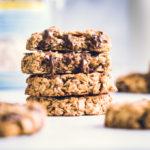 3-ingredient breakfast cookies stacked