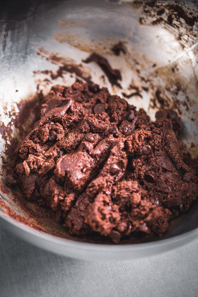 Double chocolate protein cookie dough
