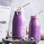 Two Vanilla Blueberry Protein Shakes