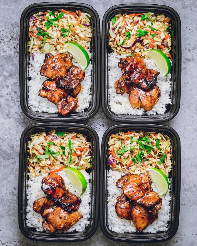 4 Chicken thighs meal prep bowl