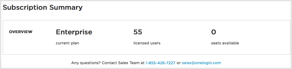 Managing your OneLogin Subscription OneLogin Help Center