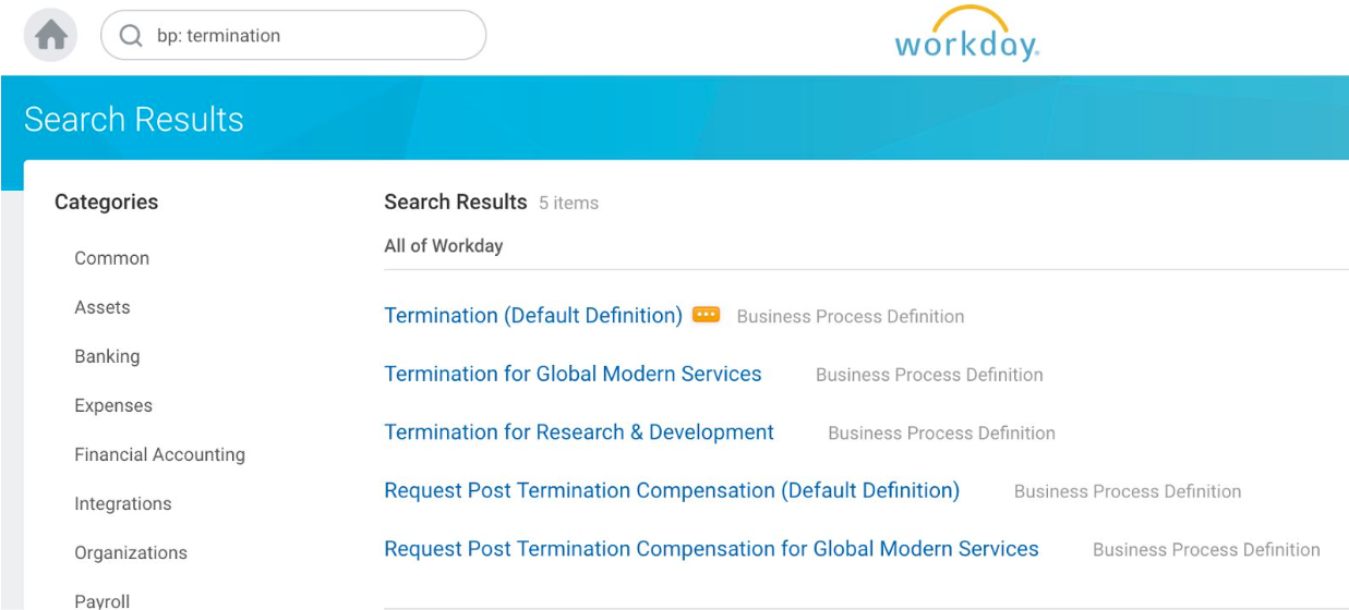 select termination business process
