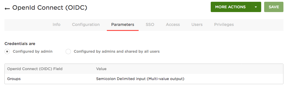 OIDC Parameters