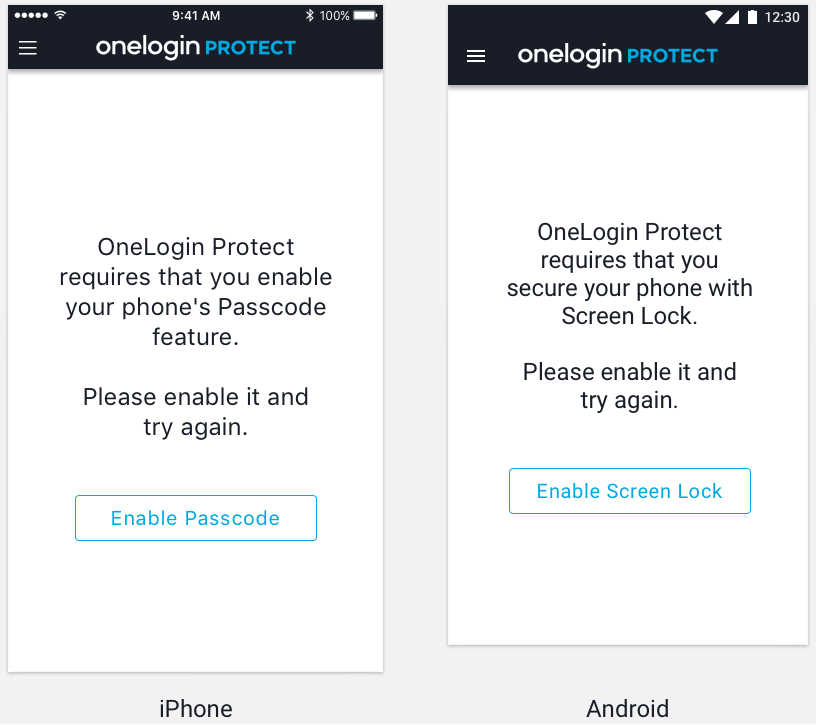 onelogin protect enable security message
