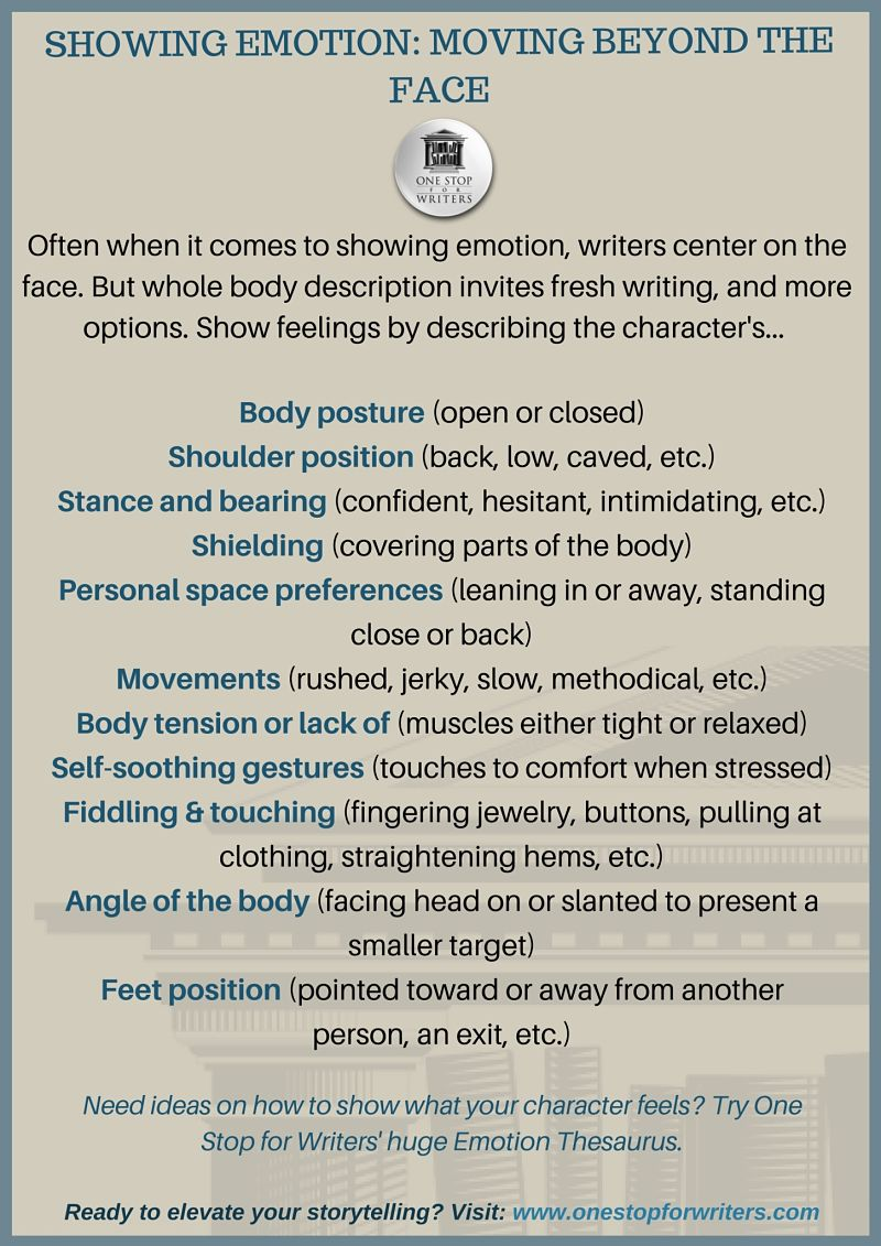 body type descriptions writing