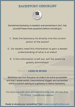 Backstory checklist
