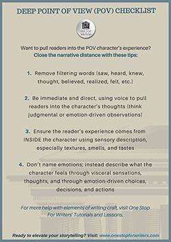 Deep pov checklist
