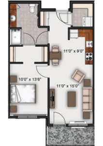 one-bed