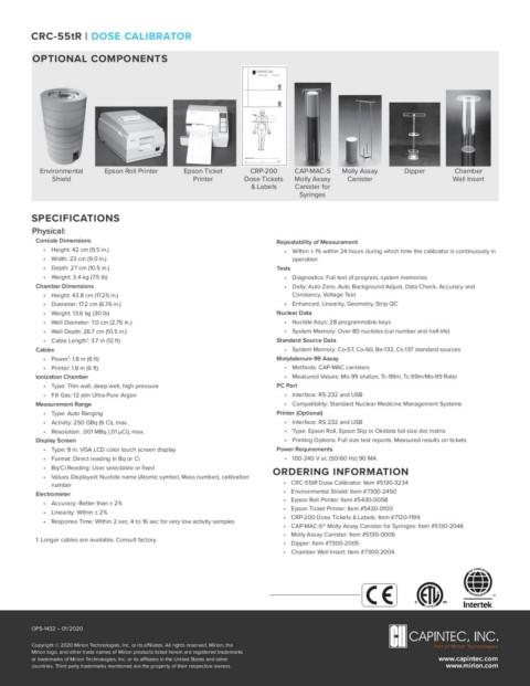 CRC ®-55tR Dose Calibrator Sell Sheet | Capintec, Inc