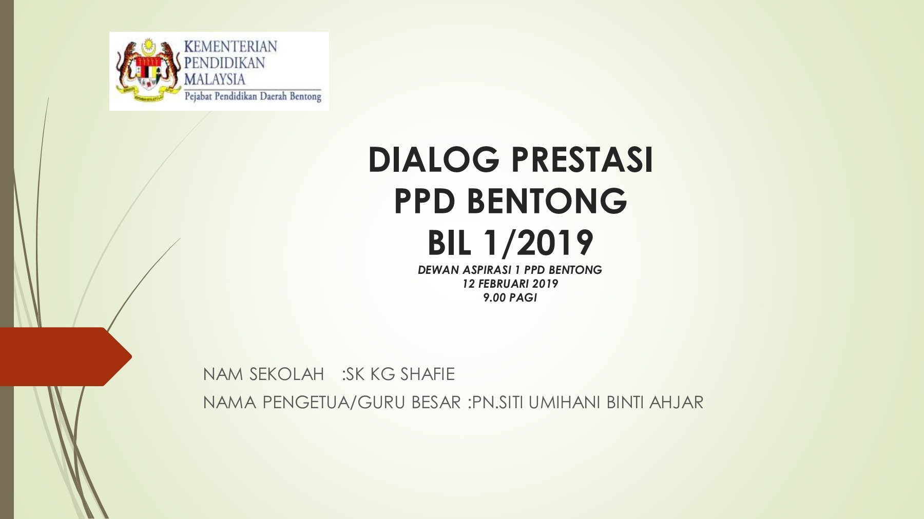 Dialog Prestasi Ppd Bentong Bil 1 2019