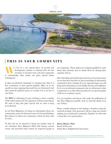 Spring 2019 News Magazine | Indian River Neighborhood