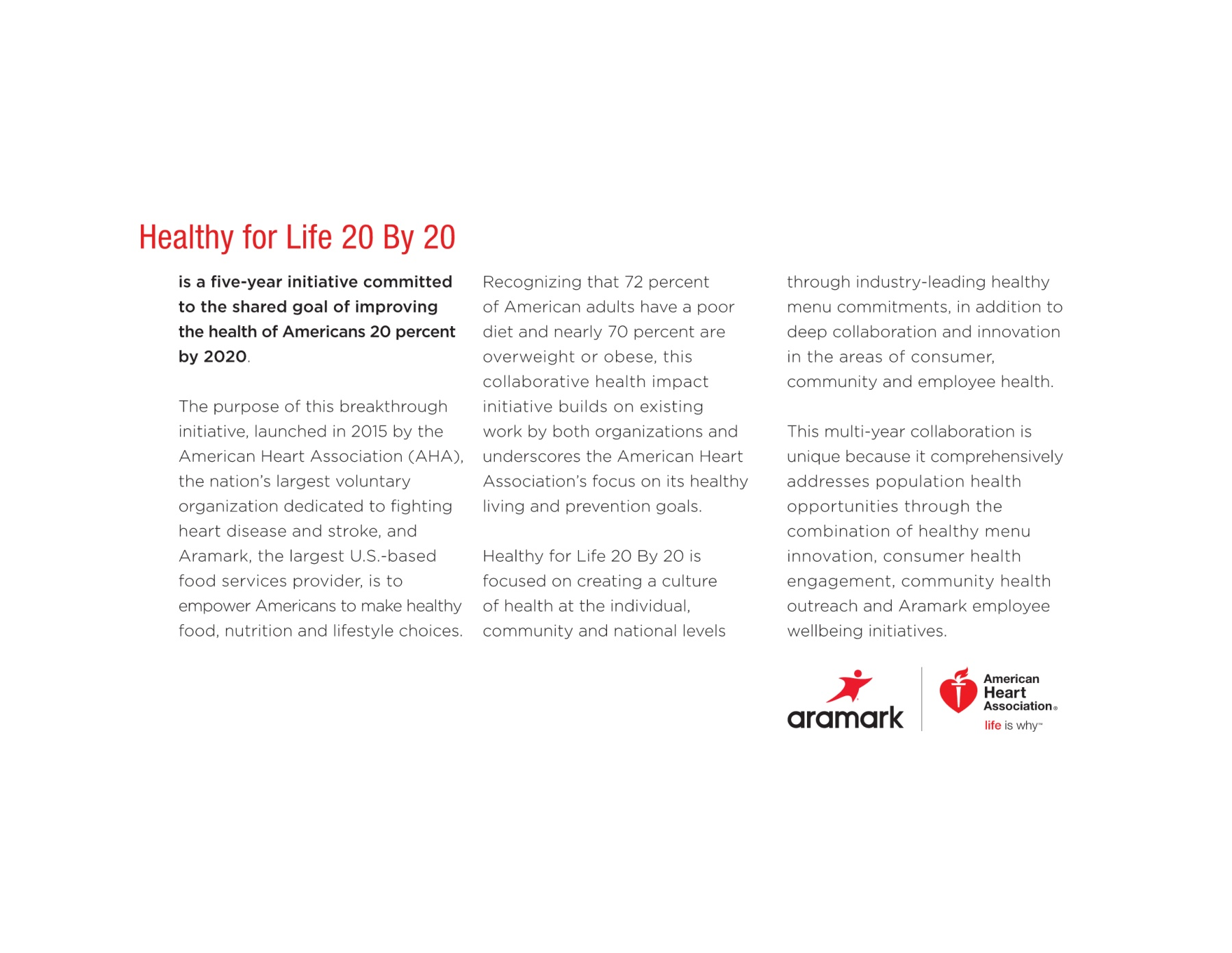 healthy for life aramark