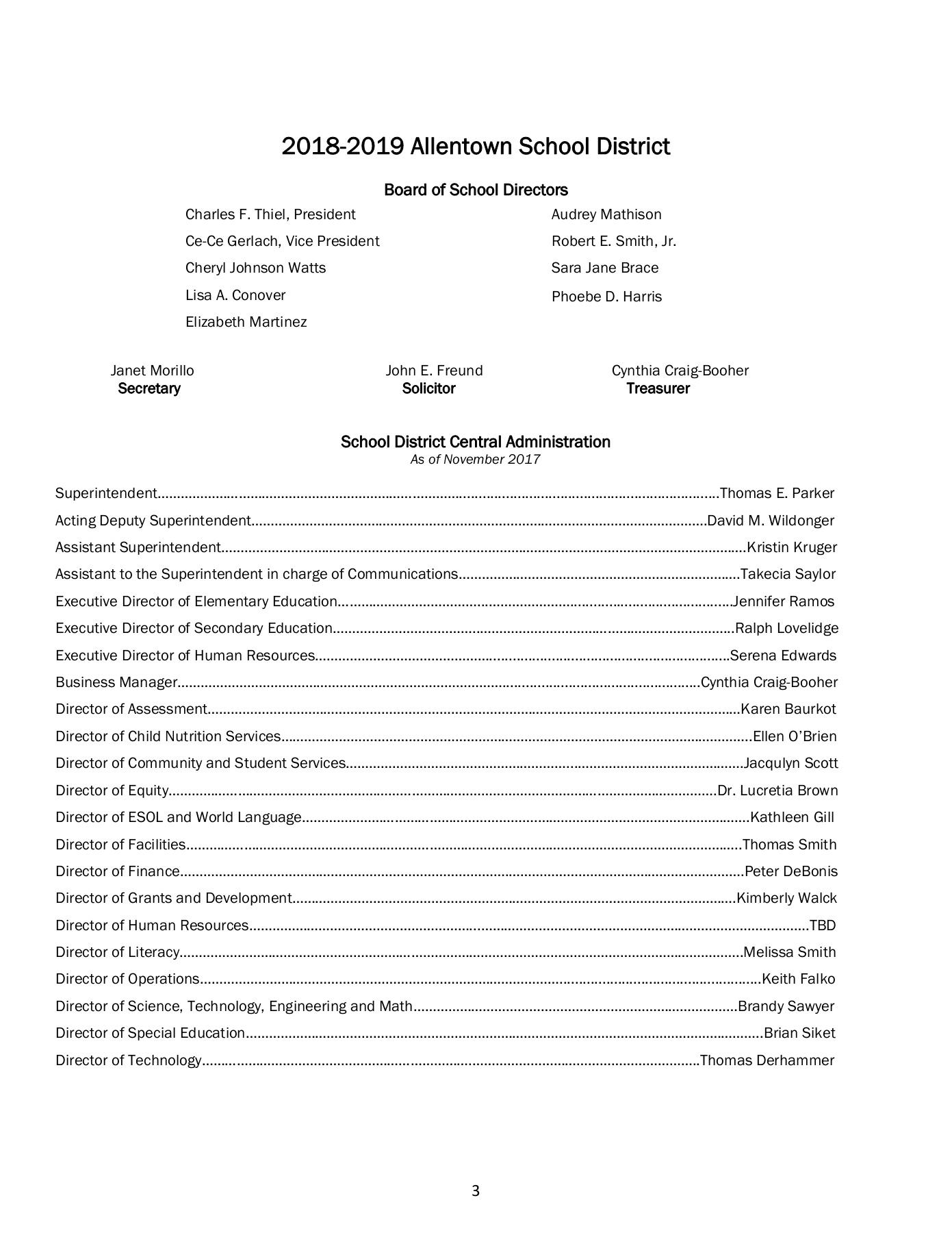 Program Of Studies Allentown School District