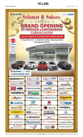 Met Parking Services >> E Paper 29 Agustus 2018 Radarlampung Co Id
