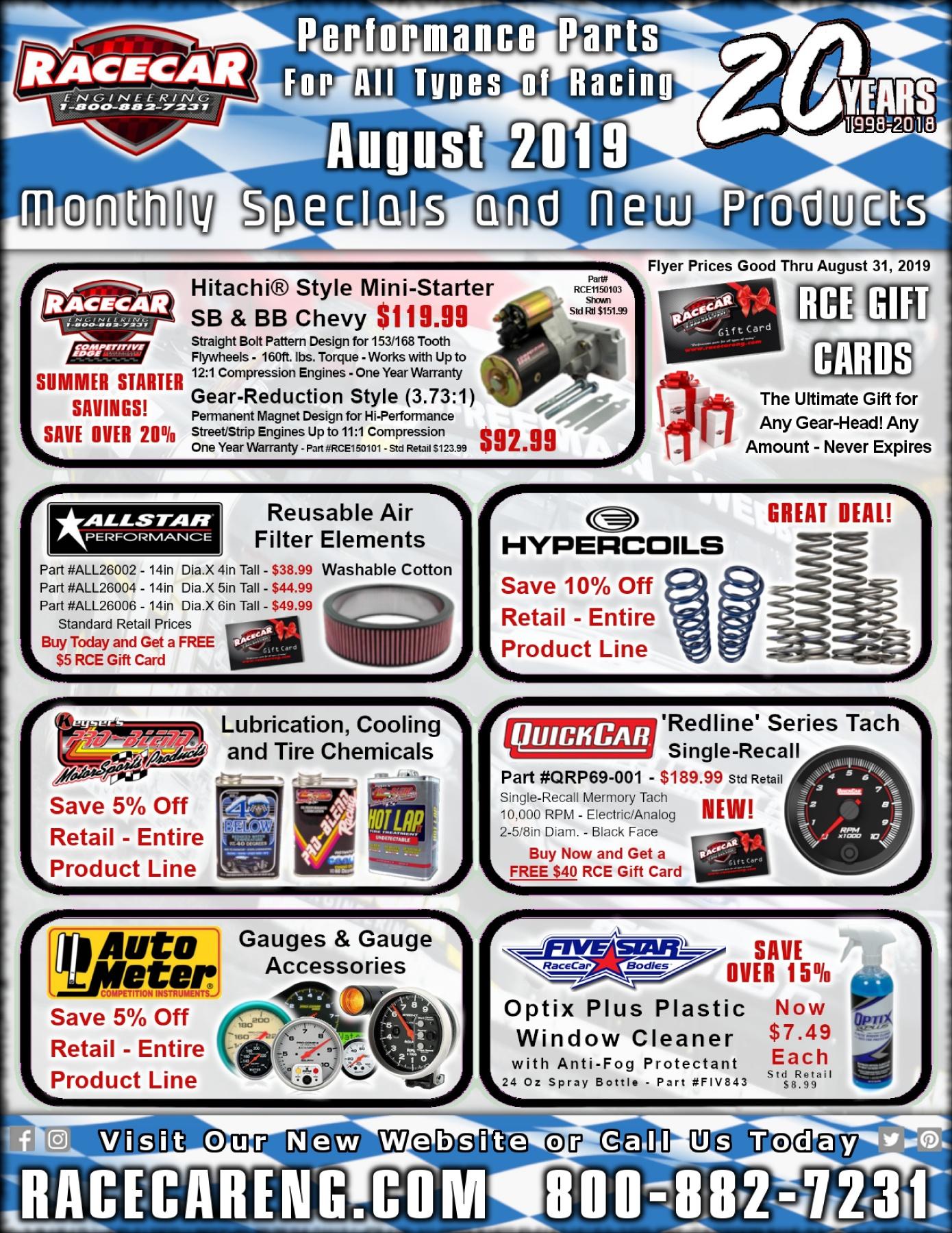 Racecar Engineering - August 2019 Sale Flyer