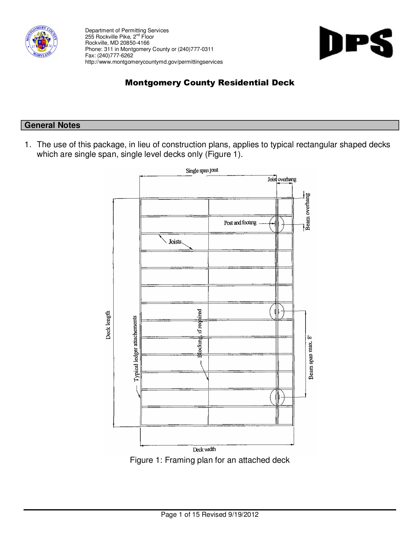 Montgomery County Residential Deck - DPS Home Page | FlipHTML5