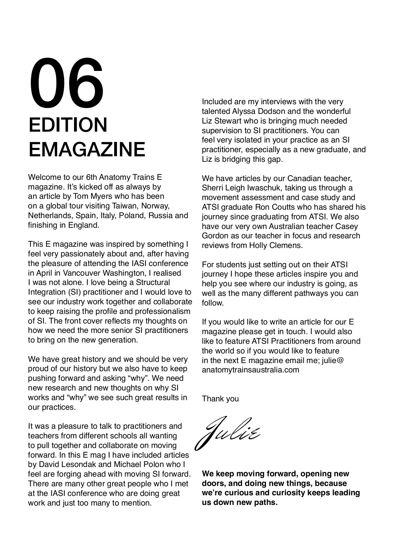 Anatomy Trains Australia eMagazine Issue 6 - Anatomy Trains