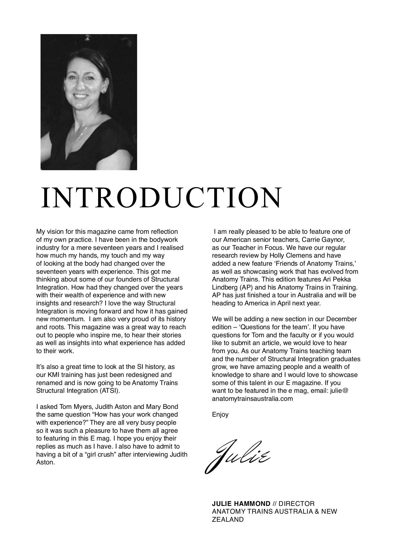 Anatomy Trains E-Magazine Issue 4 - Judith Aston Interview