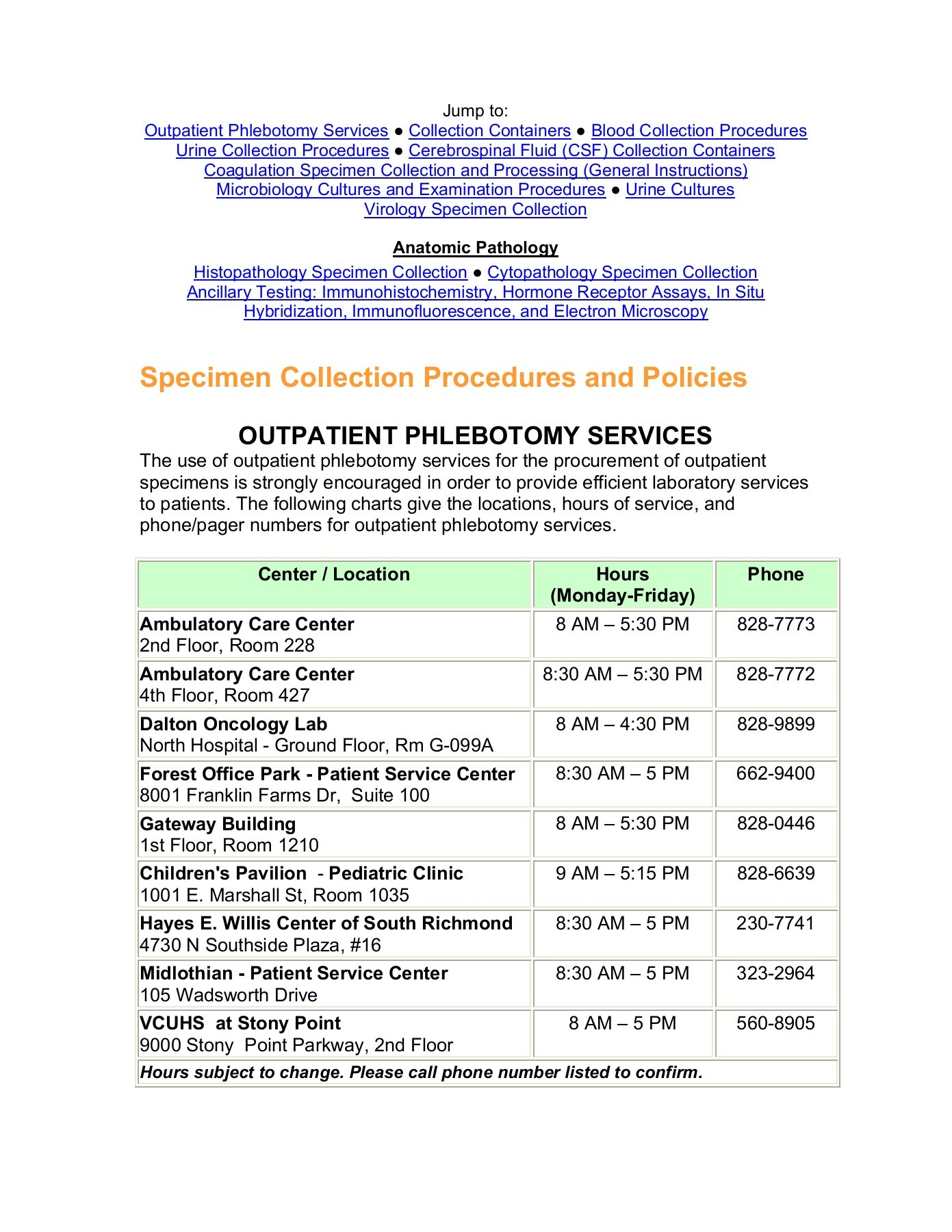 specimen collection procedures and policies fliphtml5