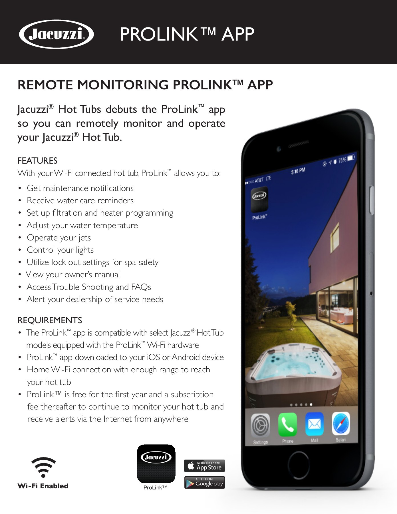 Download Jacuzzi Hot Tub ProLink Info from Koval Building Supply