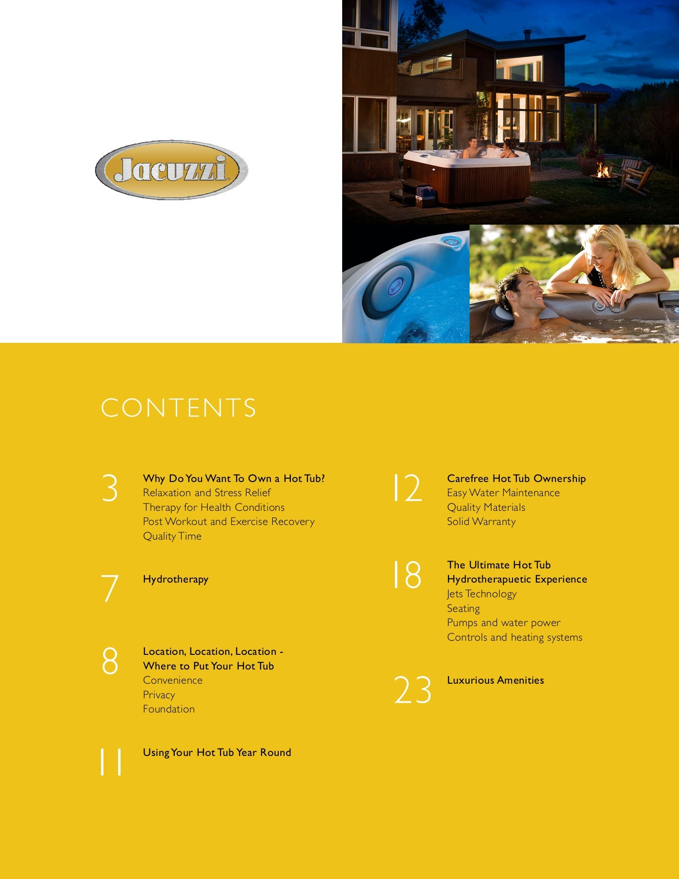 Jacuzzi Hot Tub Buyers Guide and Basic Brand Information