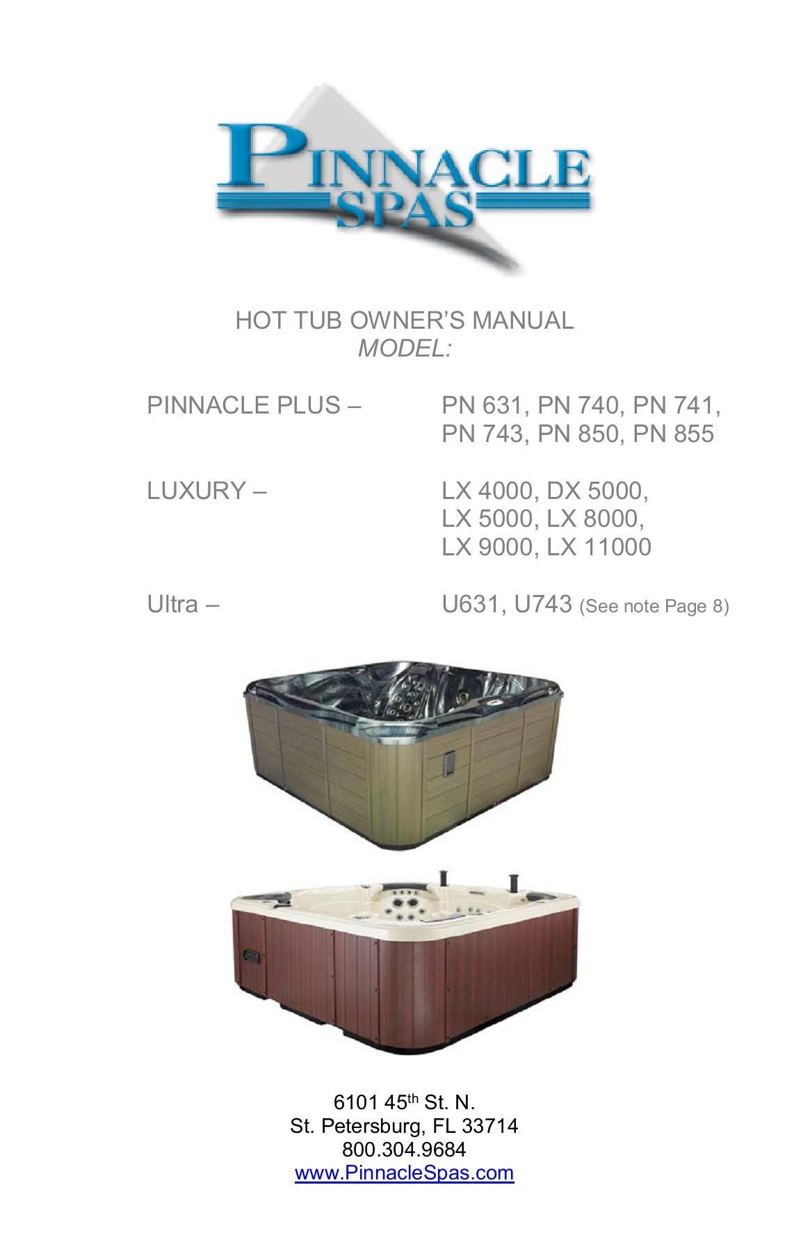 Pinnacle Spas I Hot Tubs Owner Resources Guides And Manuals Jacuzzi Tub Wiring Diagram