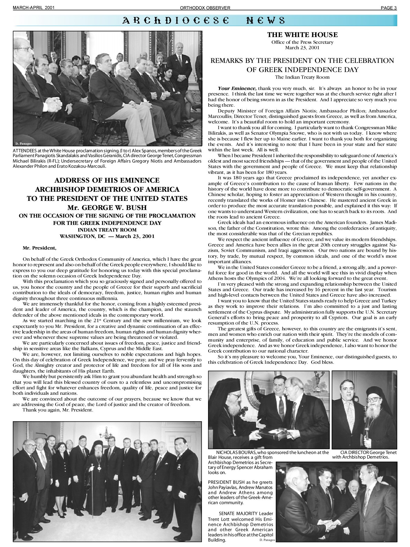 March/April 2001 Orthodox Observer - Orthodox Observer Archive