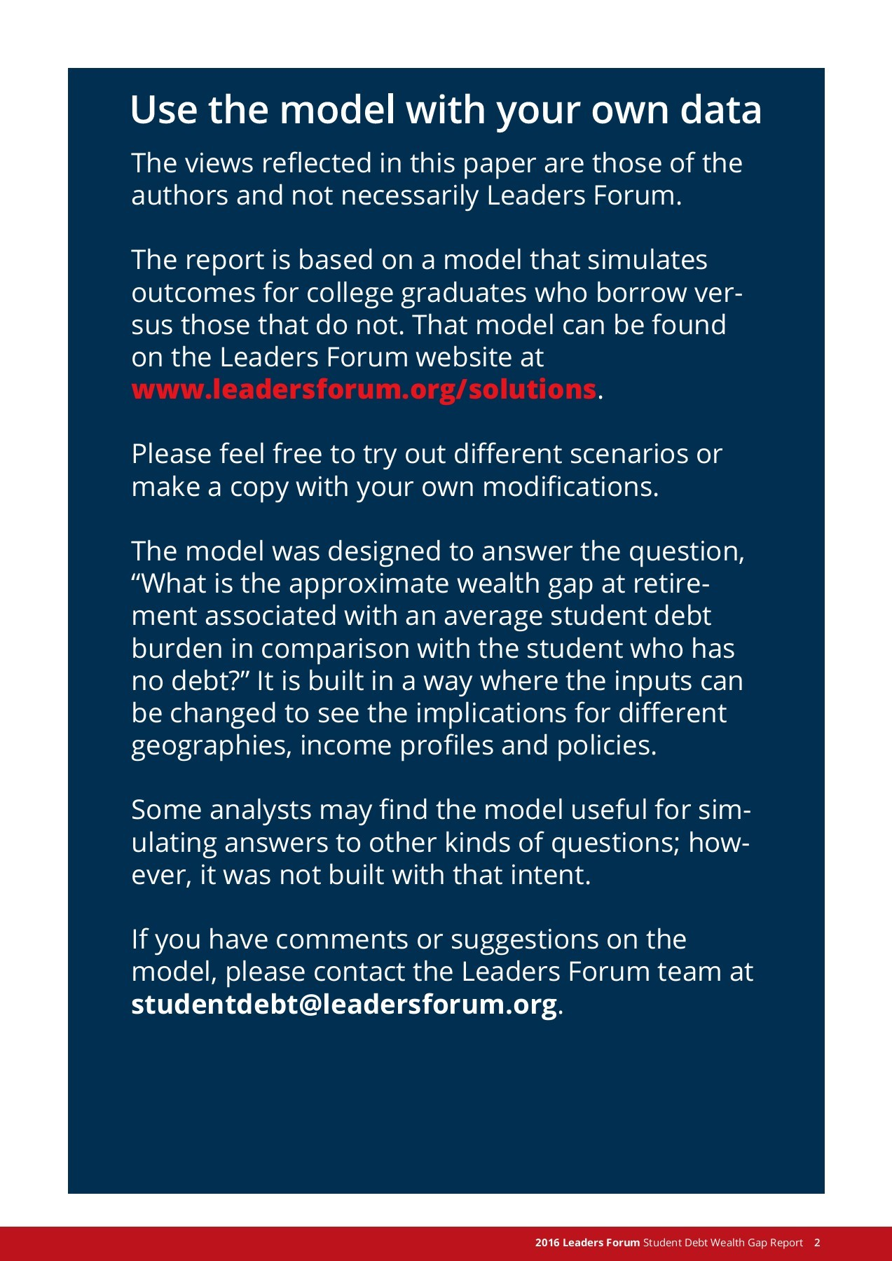 Solutions for America - LeadersForum