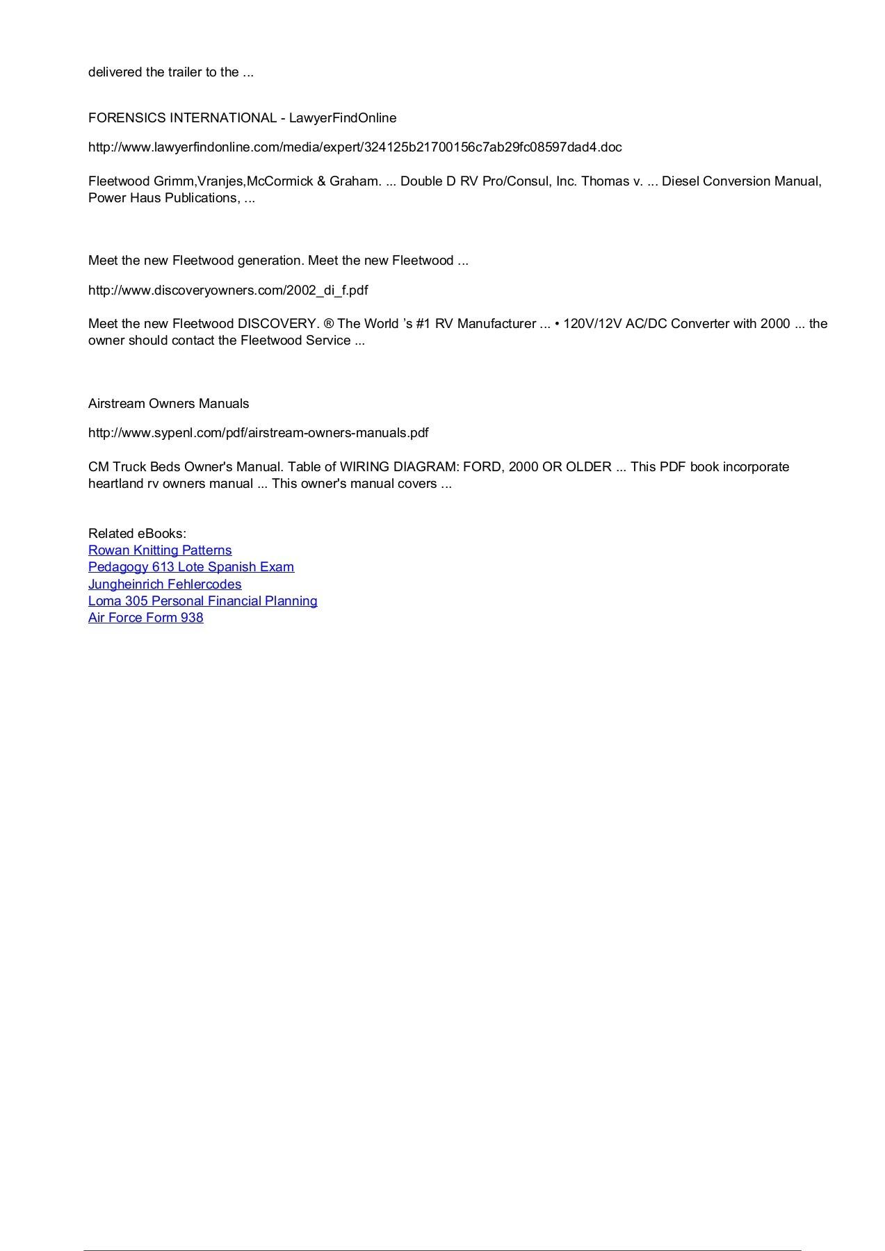 2000 Owner S Manual Fleetwood Rv Inc Fliphtml5 Heartland Wiring Diagrams