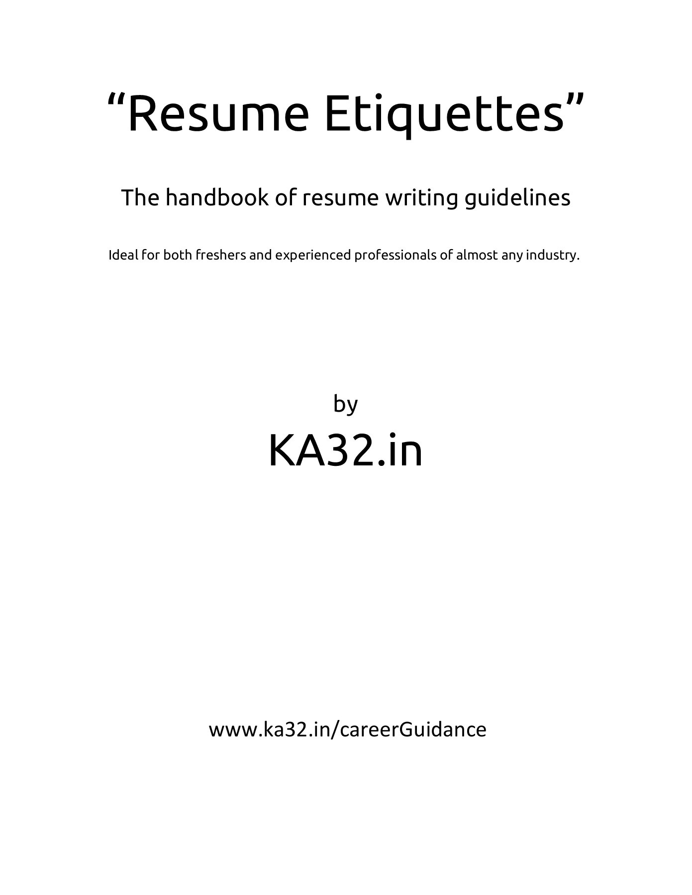resume writing guidelines by ka32 in fliphtml5