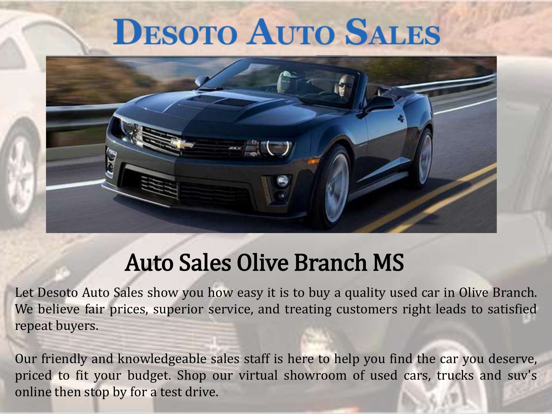Auto Sales Olive Branch Ms