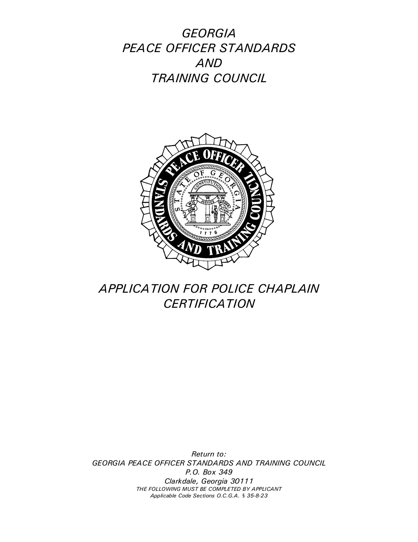 GEORGIA PEACE OFFICER STANDARDS AND TRAINING COUNCIL | FlipHTML5