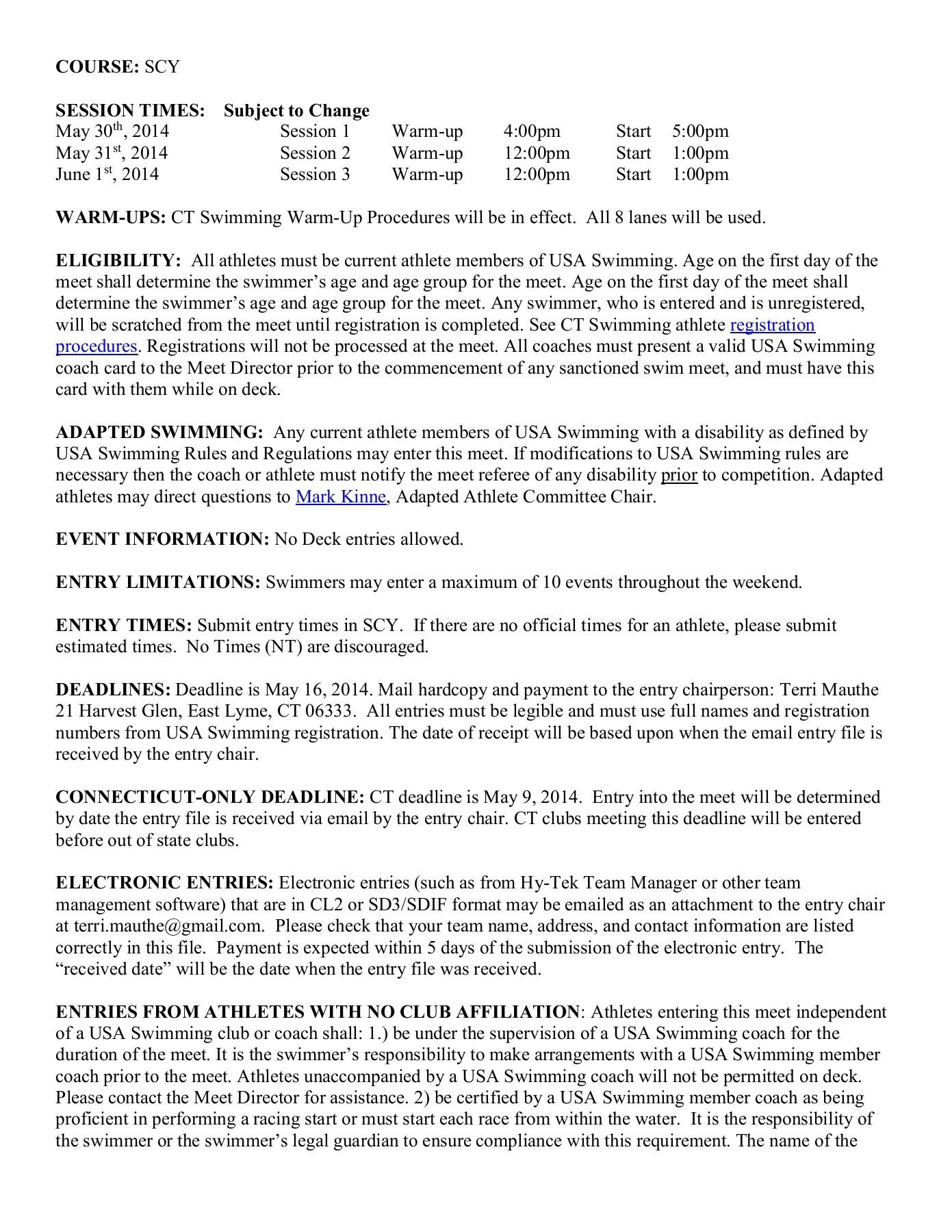 Nutmeg 13/Over Decathlon - CT Swimming