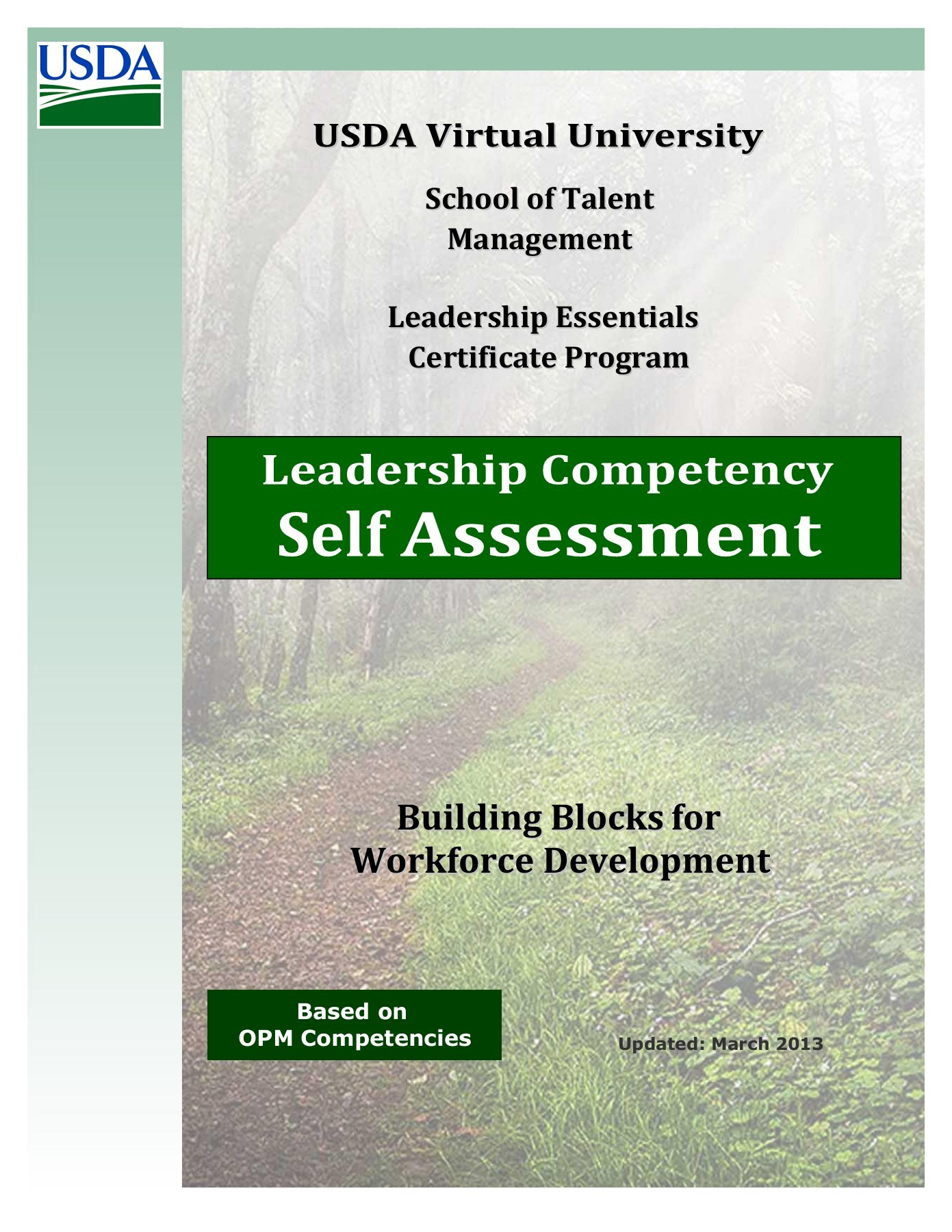 leadership self assessment paper