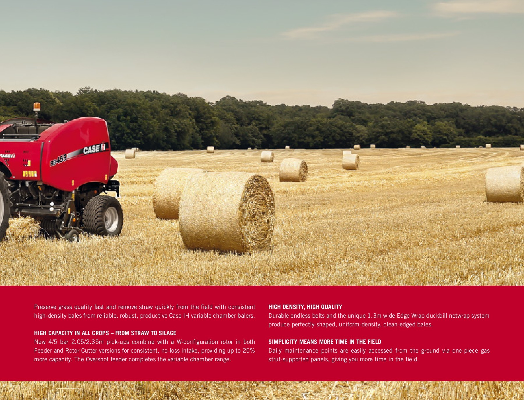 RB 455/465 Series Variable Chamber | Round Balers | Case IH