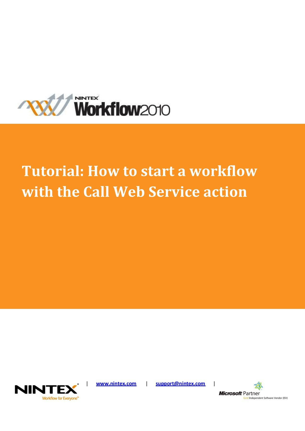 Tutorial: How to start a workflow with the Call Web