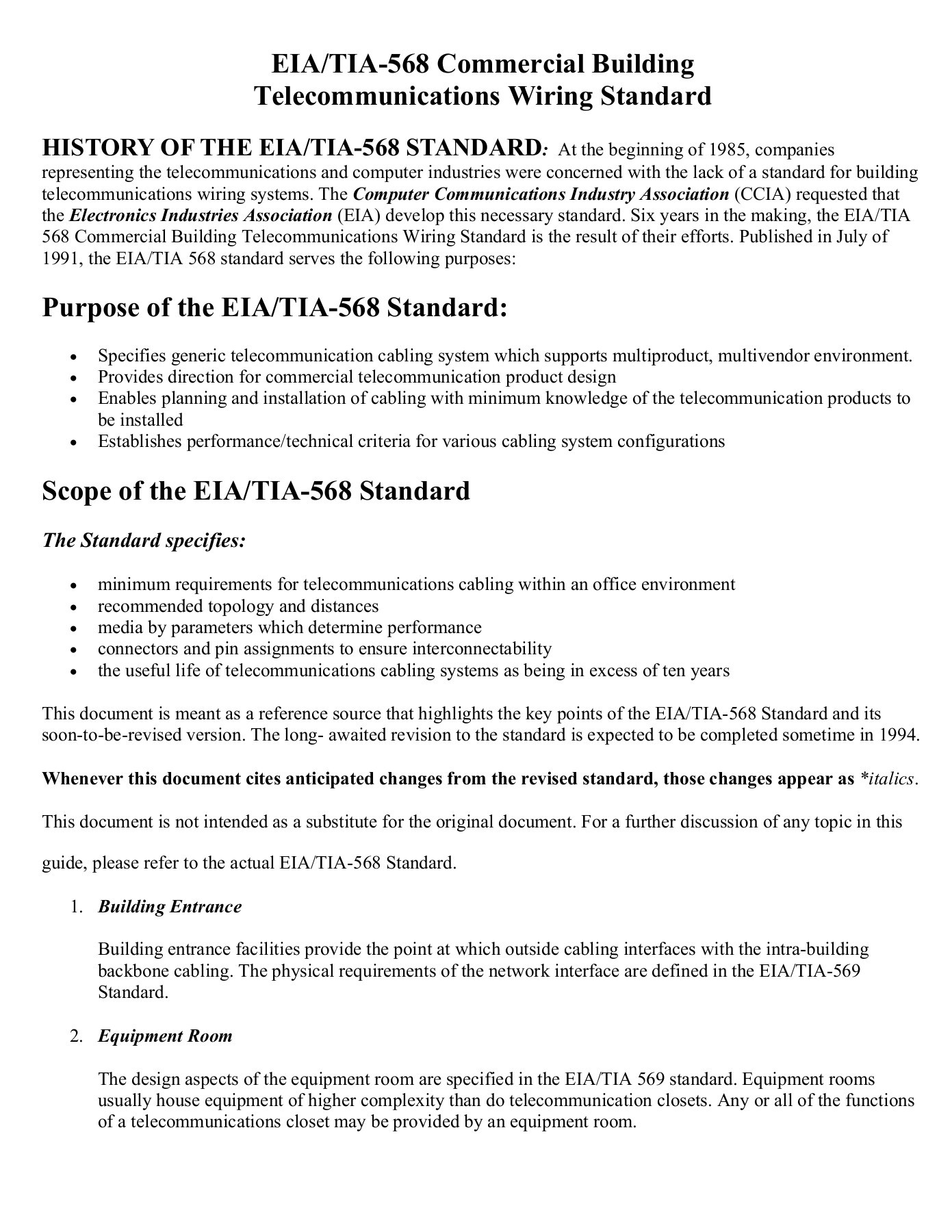 Eia Tia 568 Commercial Building Telecommunications Wiring Systems Fliphtml5