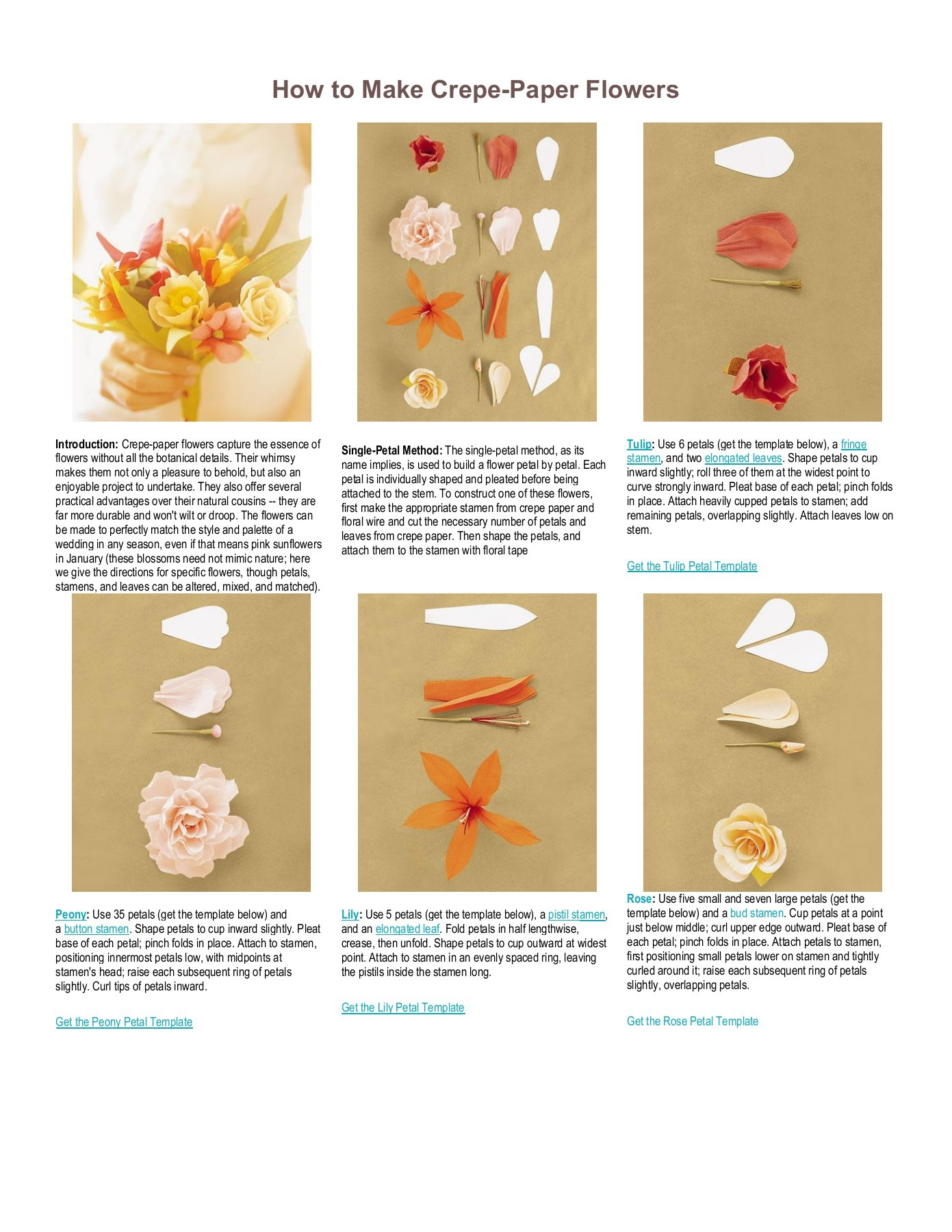 How To Make Crepe Paper Flowers Fliphtml5