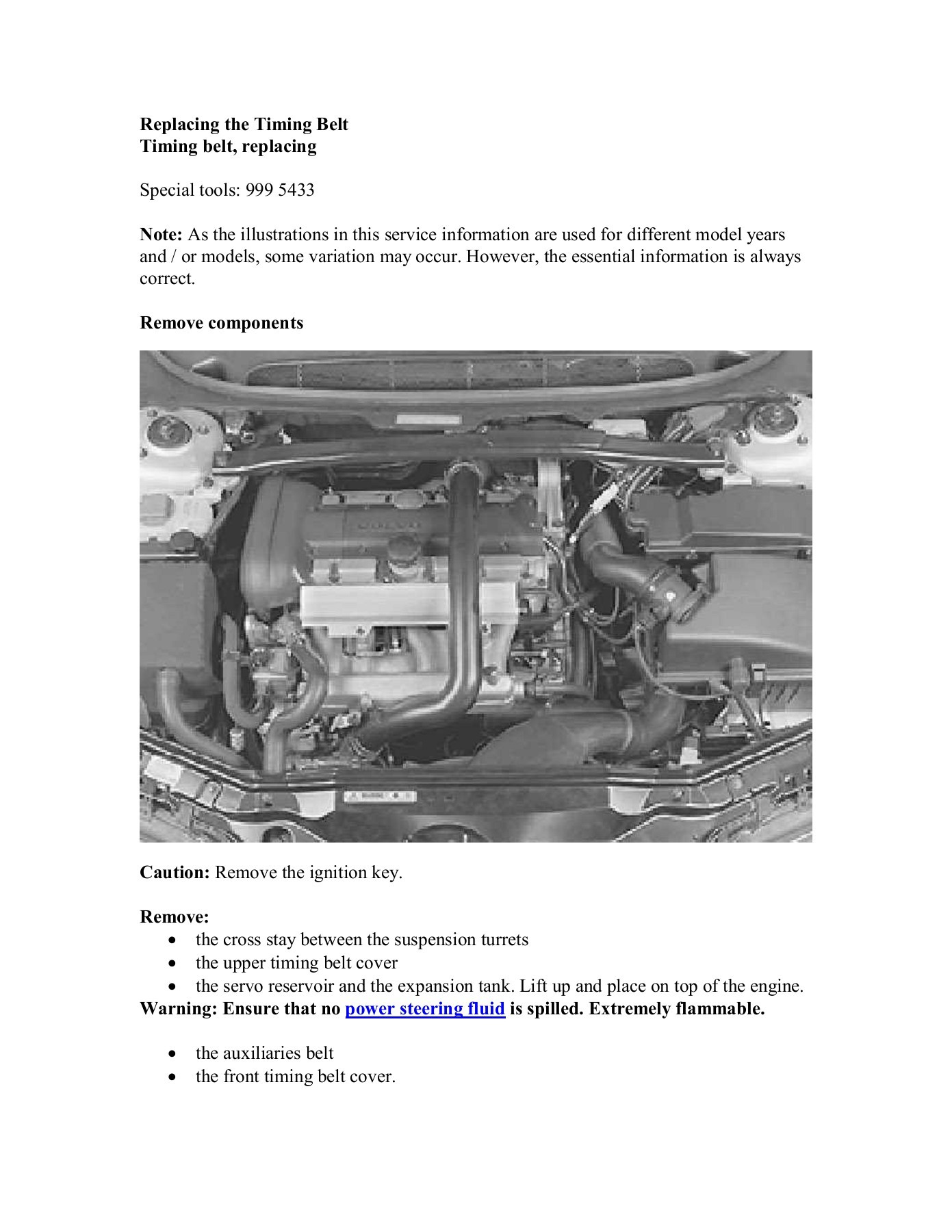 Timing Belt Replacement Volvoxccom Fliphtml5 Engine Diagram