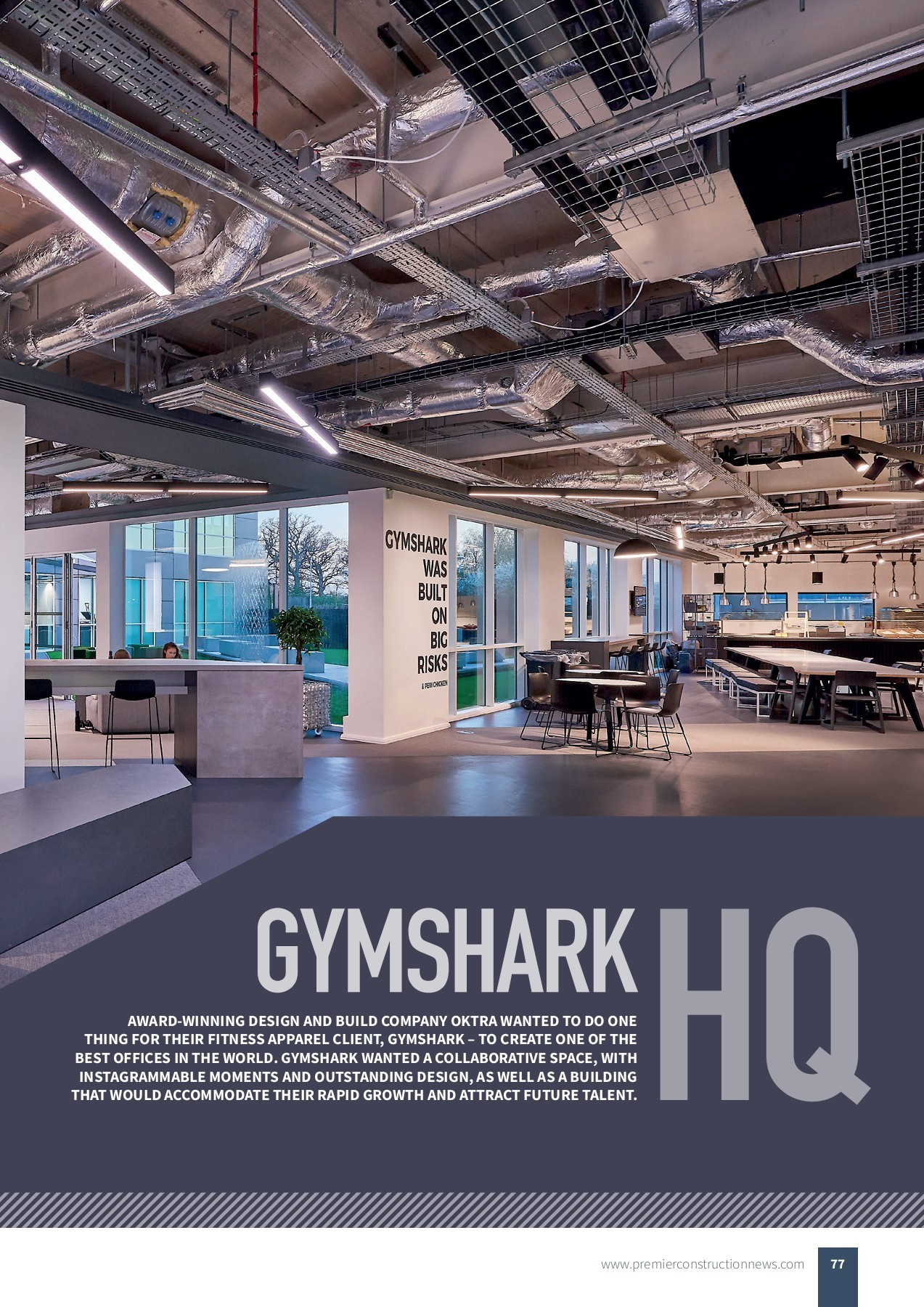 Gymshark Hq Premier Construction News